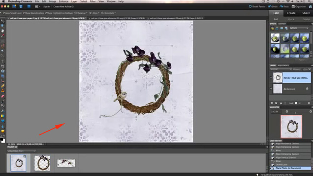 Photoshop Elements Centering