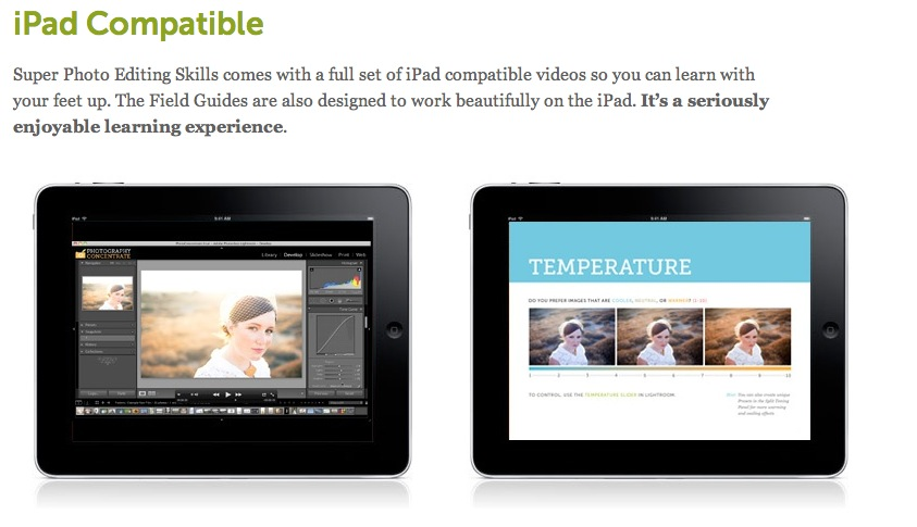 Lightroom 4 Tutorials- iPad compatible videos