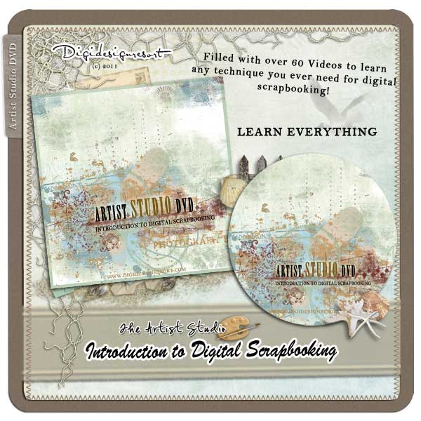 Artist Studio Video DVD – Digital Scrapbooking For Beginners