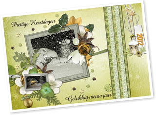 Digital Scrapbooking Kit Frosted Christmas (Christmas Card Freebie incl.)