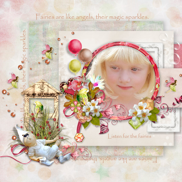 Digital Scrapbooking Kit 'Little Fairies'