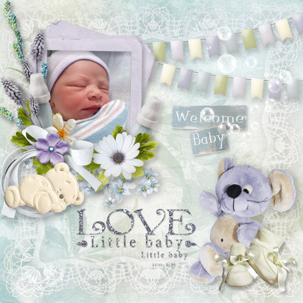 Welcome To The World – Baby Digital Scrapbooking
