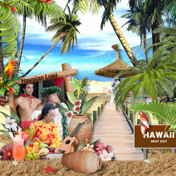 digital-scrapbook-kit-hawaiian-party