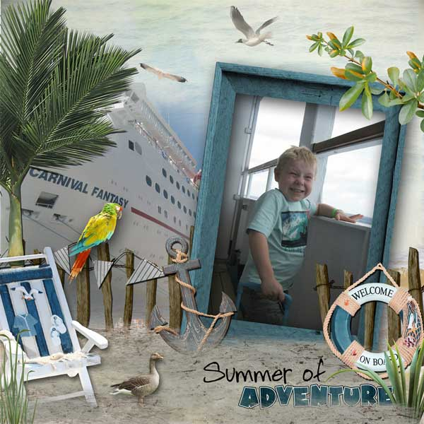 digital scrapbooking kit for vacation
