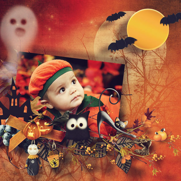Digital Scrapbooking on Halloween with Hocus Pocus