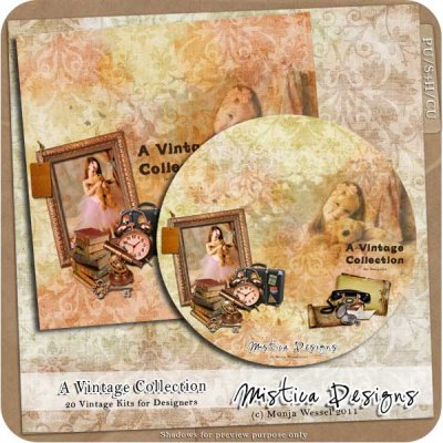 Digital Scrapbooking DVD Vintage Collection