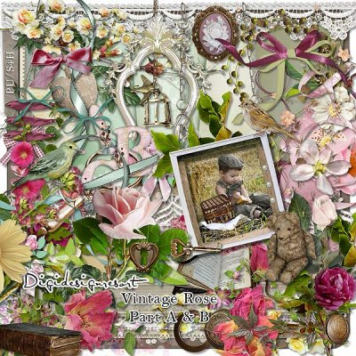 Vintage Scrapbooking for Old Photos and Weddings