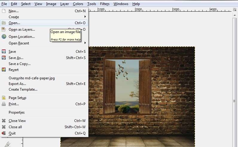 Importing Clip Art and Images to GIMP