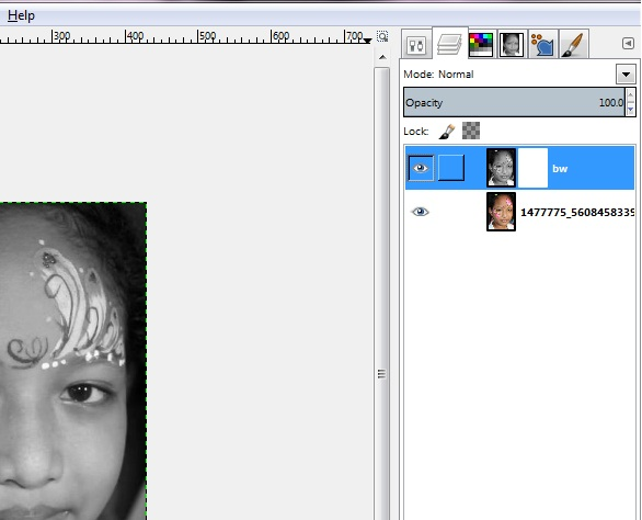 Creating a Black and White-Partial Color Effect in GIMP