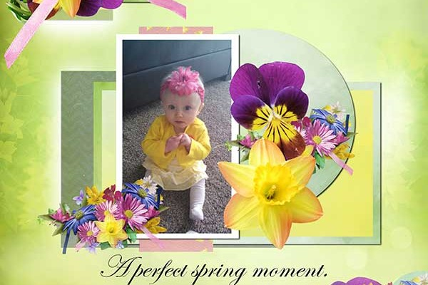A Perfect Spring Moment (Create a Digital Scrapbooking Layout)