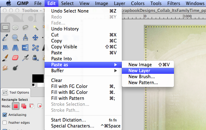 how to cut and paste person into background gimp