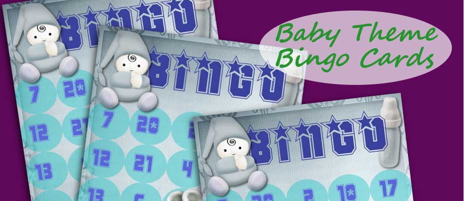 Baby Theme Bingo Cards