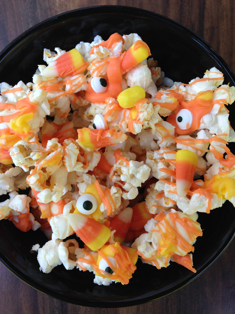 candy corn popcorn halloween recipe