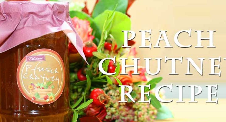 Peach Chutney with Cognac