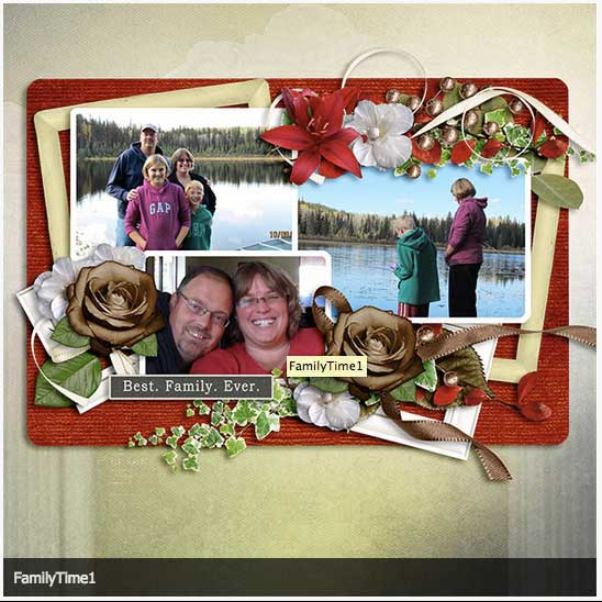 Family Time Digital Scrapbooking Layout