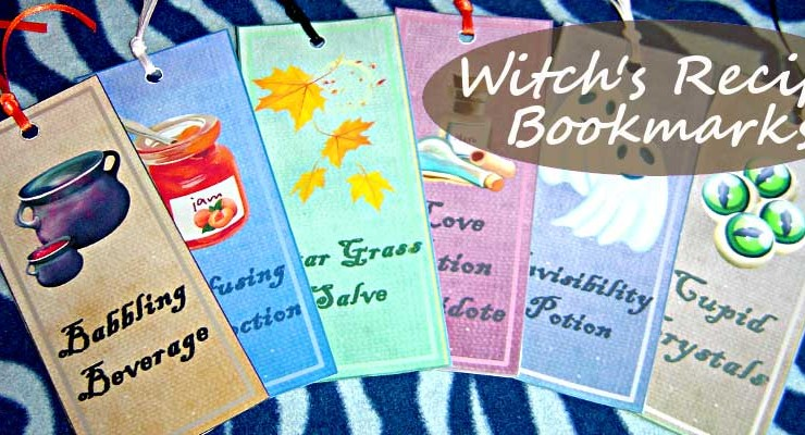 Witch's Recipe Bookmarks