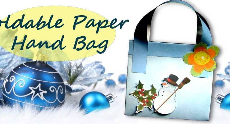 Wintertime Foldable Paper Hand Bag