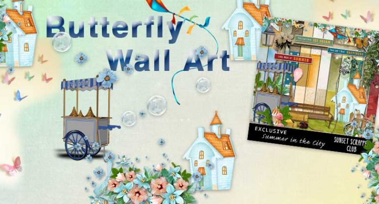 Summer Butterfly Wall Art (Free Printable)