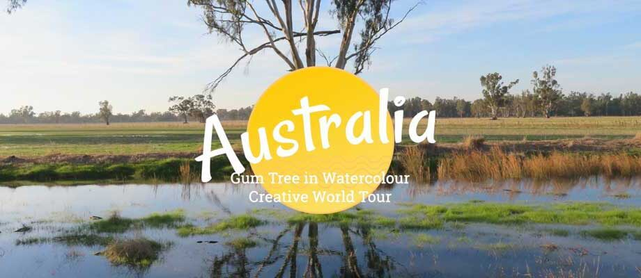 Creative World Tour Australia: Gum Tree in Watercolour